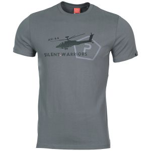 Pentagon T-shirt Ageron Helicopter motif hélicoptère Wolf Grey