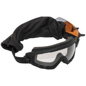 Swiss Eye Lunettes de soleil Goggle avec verres fumés + orange + transparents et monture en caoutchouc noire