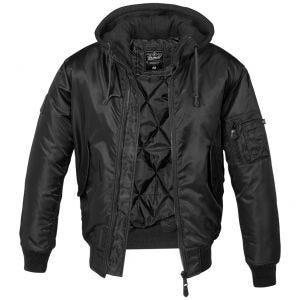 Brandit Veste à capuche style pull MA1 noire