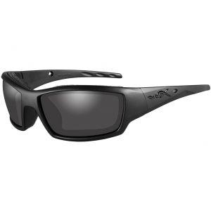 Wiley X Lunettes WX Tide avec verres couleur gris fumé et monture noire mate Black Ops
