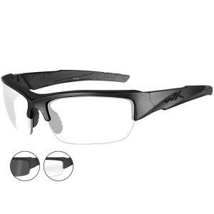 Wiley X Lunettes WX Valor avec verres couleur gris fumé + transparents et monture noire mate