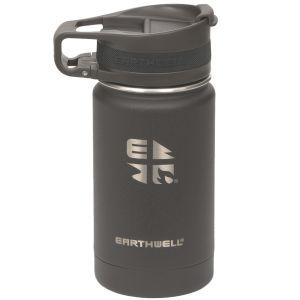 Earthwell Bouteille isotherme Roaster avec isolation sous vide et bouchon pour boire 355 ml Volcanic Black