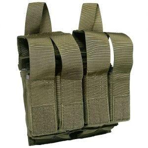 Flyye Porte-chargeur double M4/M16 + pour quatre chargeurs de pistolet MOLLE Ranger Green