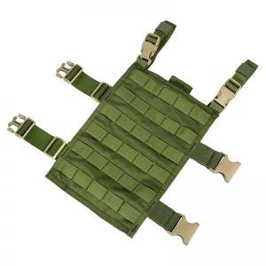 Flyye Plateforme de cuisse rectangulaire MOLLE Olive Drab
