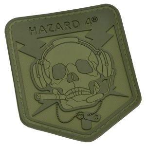Hazard 4 Écusson 3D à tête de mort OD Green