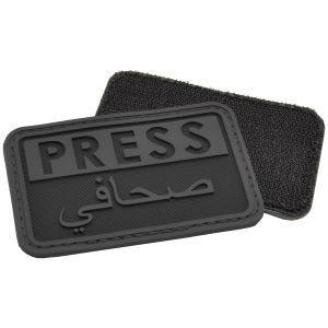 Hazard 4 Écusson 3D avec inscription Press en anglais/arabe noir