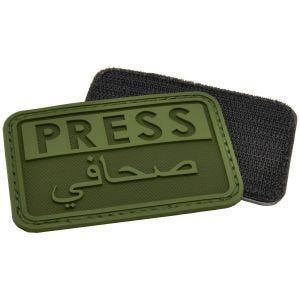 Hazard 4 Écusson 3D avec inscription Press en anglais/arabe OD Green