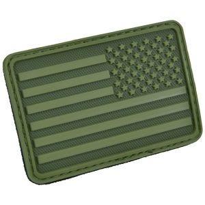 Hazard 4 Écusson pour bras droit drapeau des USA Olive Green