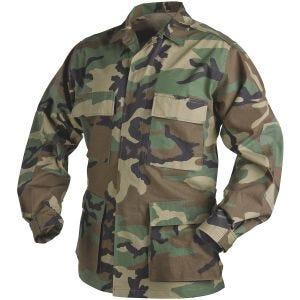 Helikon Véritable chemise BDU en polycoton Ripstop Woodland