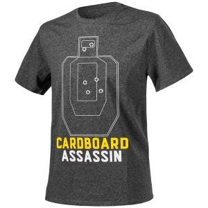 Helikon T-shirt Cardboard Assassin chiné noir-gris