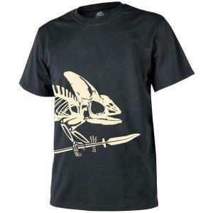 Helikon T-shirt à motif squelette caméléon devant et derrière noir