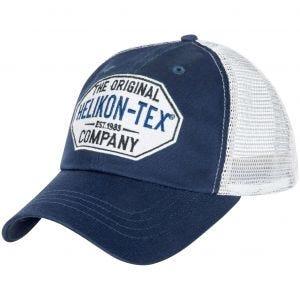 Helikon Casquette Trucker à logo Twill bleu