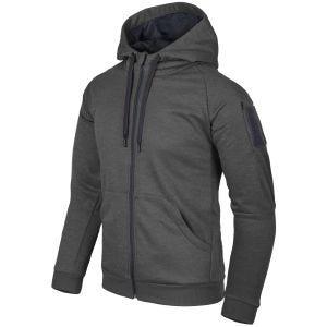 Helikon Sweatshirt à capuche Urban Tactical à fermeture Éclair noir-gris