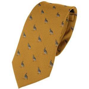 Jack Pyke Silk Tie Partridge Mustard