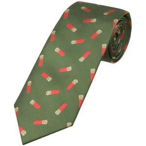 Jack Pyke Cravate à motifs cartouches verte