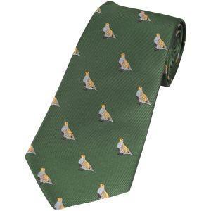 Jack Pyke Cravate à motifs perdrix verte