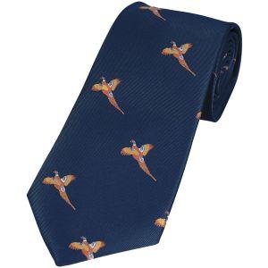 Jack Pyke Cravate à motifs faisans Navy