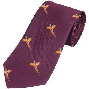Jack Pyke Cravate à motifs faisans Wine