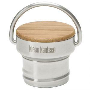 Klean Kanteen Bouchon en acier inoxydable et en bambou en une seule pièce Brushed Stainless