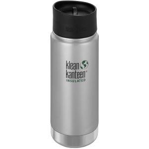 Klean Kanteen Gourde isolante à large ouverture 473 ml avec bouchon Café large 2.0 Brushed Stainless