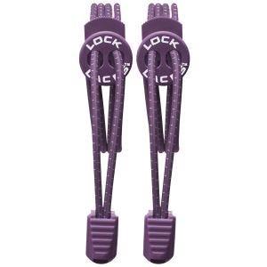 Lock Laces Lacets élastiques sans noeud violets