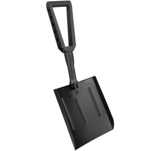 MFH Pelle en aluminium pliable noire