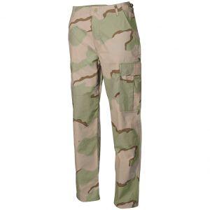 MFH BDU Pantalon de combat en Ripstop Desert tricolore