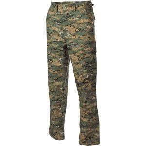 MFH BDU Pantalon de combat en Ripstop Digital Woodland