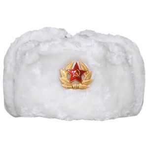 MFH Chapka russe avec badge blanche