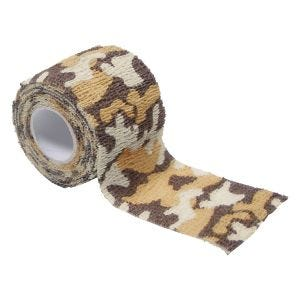 MFH Ruban en tissu auto-adhésif de camouflage 5 cm x 4,5 m Desert