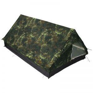 MFH Tente 2 personnes Minipack avec moustiquaire Flecktarn