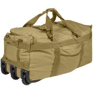Mil-Tec Sac fourre-tout militaire à roulettes Coyote