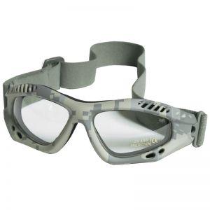 Mil-Tec Lunettes de protection à verres transparents Commando Air Pro ACU Digital
