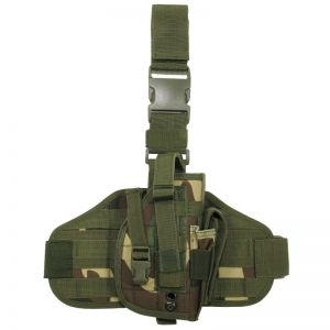 MFH Holster de cuisse MOLLE Woodland