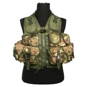 Mil-Tec Gilet tactique Ultimate Vegetato Woodland