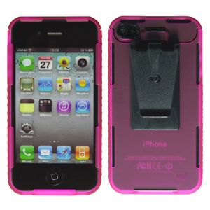 Nite Ize Coque Connect Case pour iPhone 4/4S rose translucide