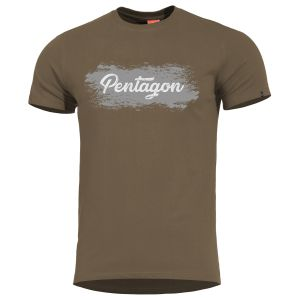 Pentagon T-shirt Ageron Grunge Terra Brown