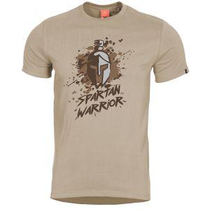 Pentagon T-shirt Ageron Spartan Warrior motif guerrier spartiate kaki