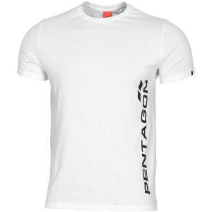 Pentagon T-shirt Ageron logo Pentagon vertical blanc