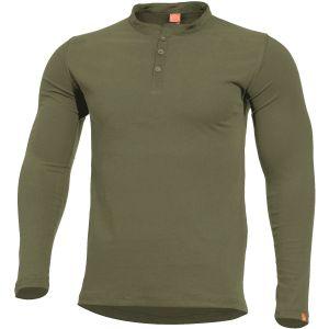 Pentagon T-shirt à col Mao Romeo vert olive