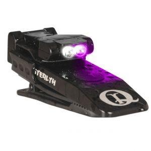 QuiqLite Lampe de poche Stealth UV/LED blanche