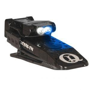 QuiqLite Lampe de poche Stealth à LED bleue/blanche