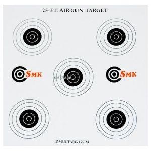 SMK Lot de 100 cibles en carton 25ft 17 cm