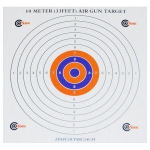 SMK Lot de 100 cibles en papier 14 cm colorées au centre