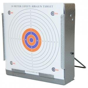 SMK Cible Porte-cible avec récupérateur de balle 14 x 14