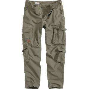Surplis Pantalon Airbone Slimmy vert olive délavé