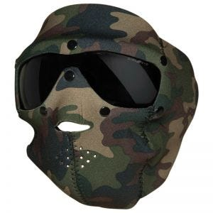 Swiss Eye Masque en néoprène couvrant le visage avec masque pour les yeux intégré Woodland