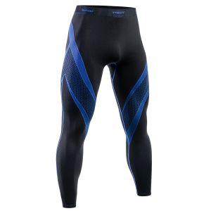 Tervel Legging de sport Optiline noir/bleu