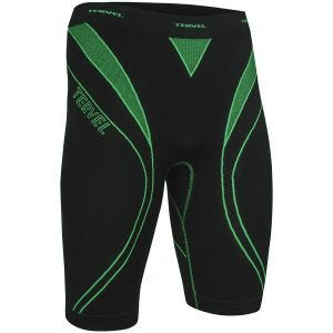 Tervel Short de sport Optiline noir/vert