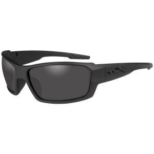 Wiley X Lunettes WX Rebel avec verres couleur gris fumé/monture noire mate